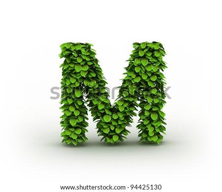 Green Letter m Logo Letter m Alphabet of Green