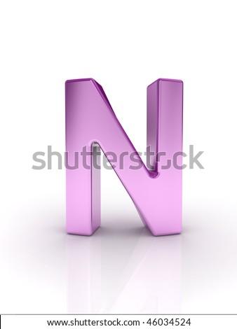 Letter N - stock photo