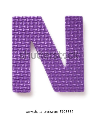 Letter N isolated on the white background - stock photo