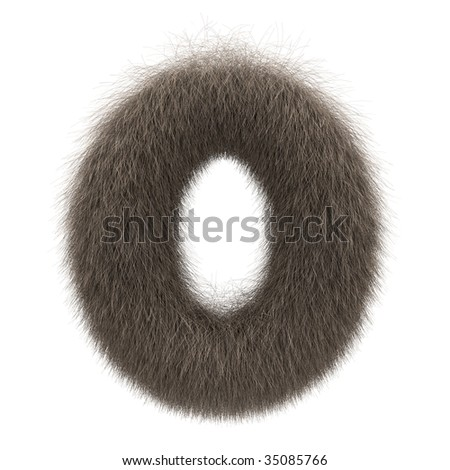 Letter O from fur alphabet - stock photo