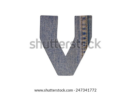 letter of jeans alphabet