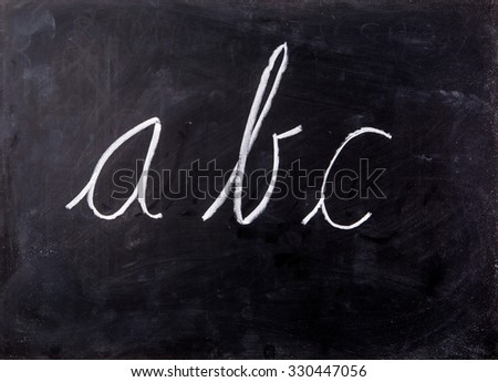 letter on blackboard