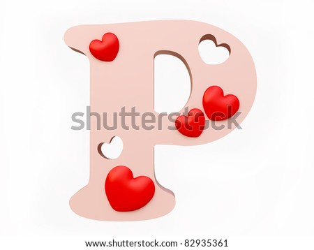 P Alphabet In Love Stock Photos, Illustrations, and Vector Art similar to Image ID ...