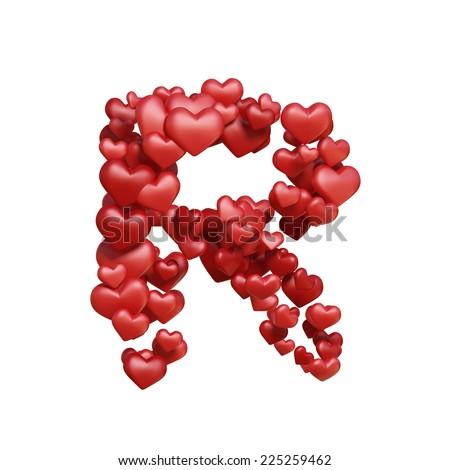 R Alphabet Wallpaper In Heart Letter R Healt ...