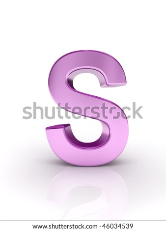 Letter S - stock photo