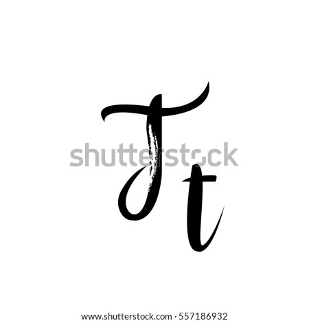 Letter T Of The Alphabet Font Calligraphy