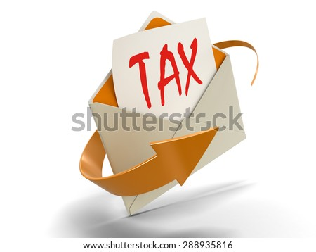 Letter TAX (clipping path included) - stock photo