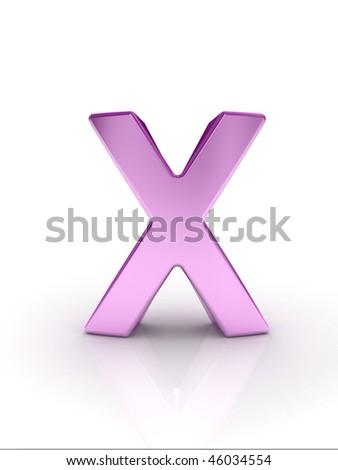 Letter X - stock photo