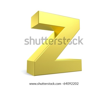 letter Z from my golden collection - stock photo