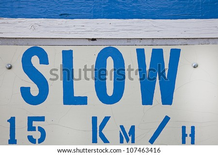 Lettering and wood texture - stock photo