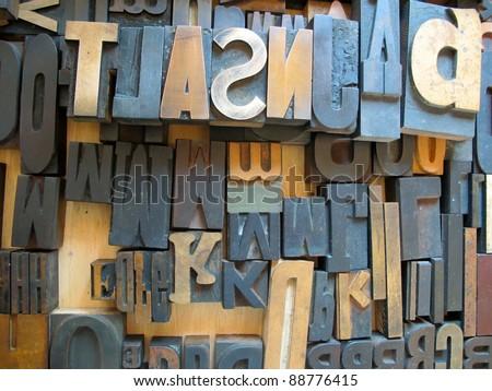 Letterpress, Wood Block - stock photo