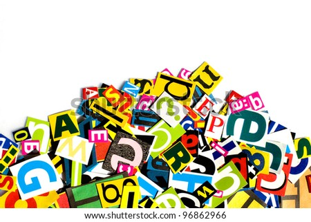 Letters - stock photo