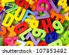 Letters and numbers - stock photo
