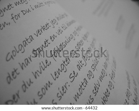 Letters and words closeup - stock photo