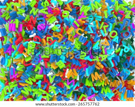 letters background 3d - stock photo
