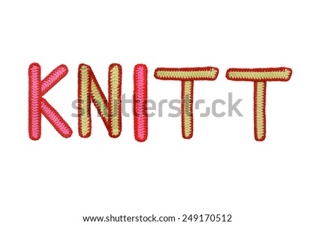 Letters  of knit handmade alphabet isolated  on white background  - stock photo