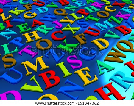 letters of the English alphabet. background