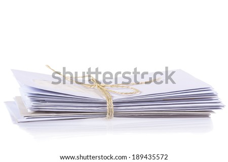 letters on white background