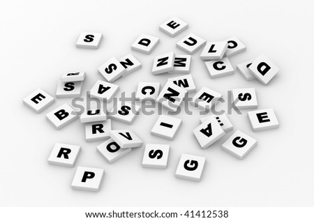 Letters scrabble. - stock photo