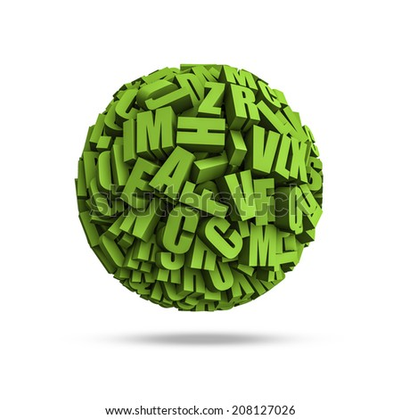 Letters sphere - stock photo
