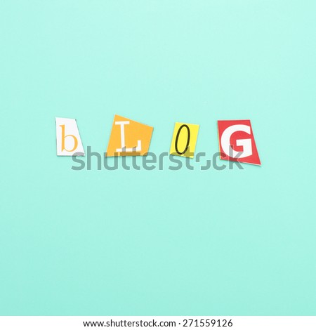 Letters with the word blog. Conceptual image of social media communication. - stock photo