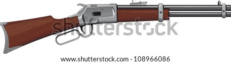 Lever Rifle Winchester rifle that won the West. Raster version