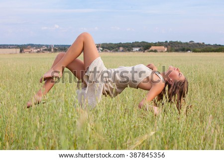 levitation in nature and free - stock photo
