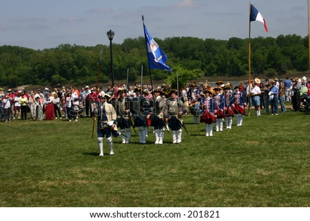Lewis and Clark Bicentenial celebration in St.Charles Missouri 2004 - stock photo