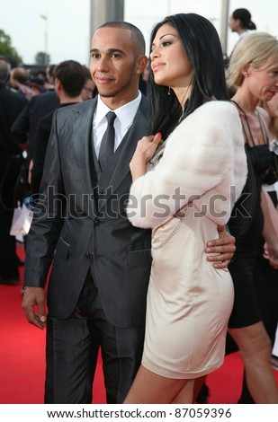 Lewis Hamilton and Nicole Scherzinger arriving for the National Movie Awards 2011, at Wembley Arena, London. 11/05/2011  Picture By: Alexandra Glen / Featureflash