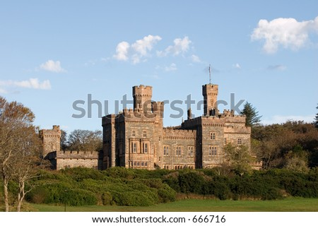 Lews Castle, Stornoway,  a college of further education. - stock photo