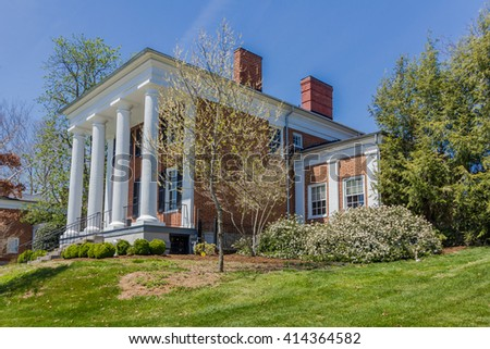 LEXINGTON, VA, USA - APRIL 15: Gilliam Admissions House at Washington and Lee University in Lexington, Virginia, on April 15, 2016 in LEXINGTON, VA, USA.