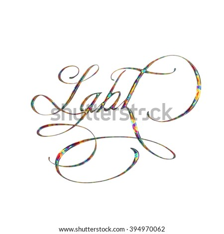 LGBT rainbow crystal isolated text rendering
