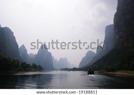 Li Jiang River cruise, China - stock photo