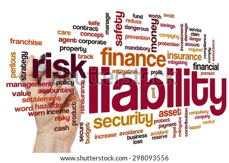 Liability word cloud concept - stock photo