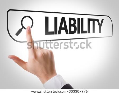 Liability written in search bar on virtual screen - stock photo