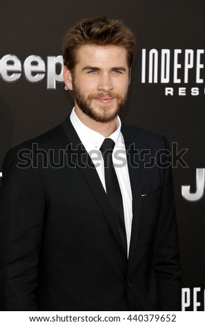 Liam Hemsworth at the Los Angeles premiere of 'Independence Day: Resurgence' held at the TCL Chinese Theatre in Hollywood, USA on June 20, 2016.