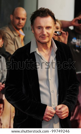 "Liam Neeson arrives for premiere of ""Wrath of the Titans"" at the IMAX Cinema, South Bank, London. 29/03/2012 Picture by: Simon Burchell / Featureflash"