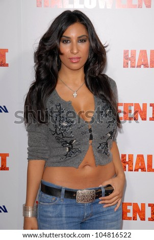 Liana Mendoza  at the Los Angeles Premiere of 'Halloween II'. Grauman's Chinese Theatre, Hollywood, CA. 08-24-09