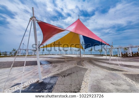 Liaoning Province Gaizhou bay awning architecture landscape