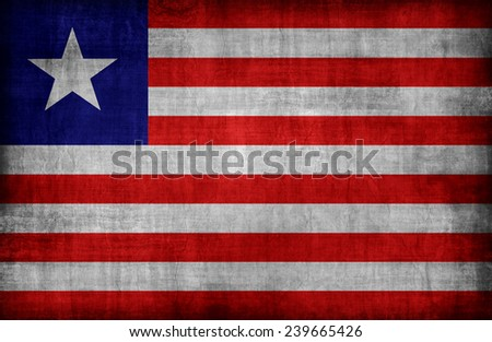 Liberia flag pattern,retro vintage style - stock photo