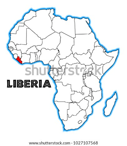 Liberia outline inset into map africa stock illustration 1027107568 liberia outline inset into a map of africa over a white background gumiabroncs Choice Image