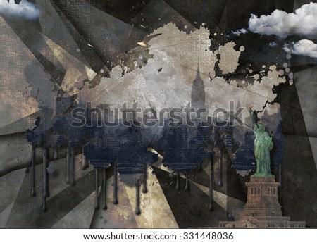 Liberty Landscape - stock photo