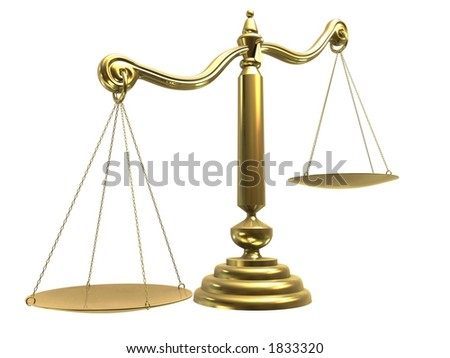 libra/scale - stock photo