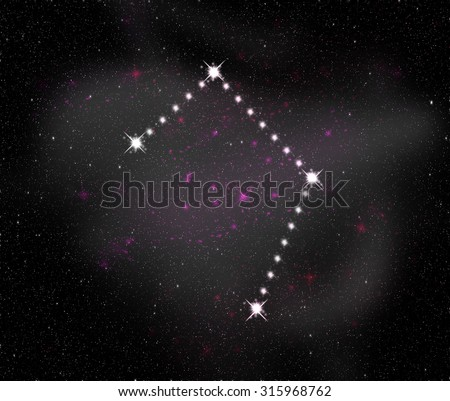 Libra zodiac sign. Constellation map. Constellations background. Space stars wallpaper. Horoscope constellations background. Zodiac constellations. Galactic constellations and stars. - stock photo