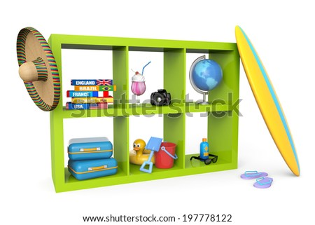 library objects for the summer holidays - stock photo