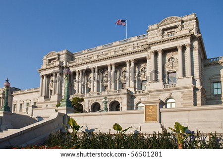 Library of Congress, Washington, DC - stock photo