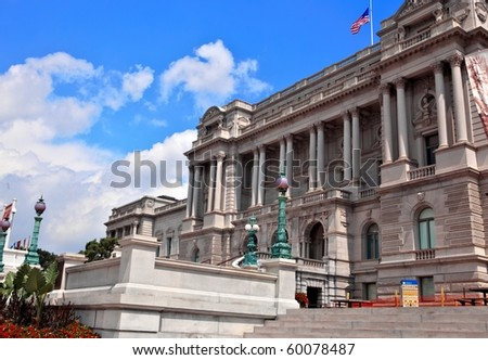 Library of Congress washington dc - stock photo