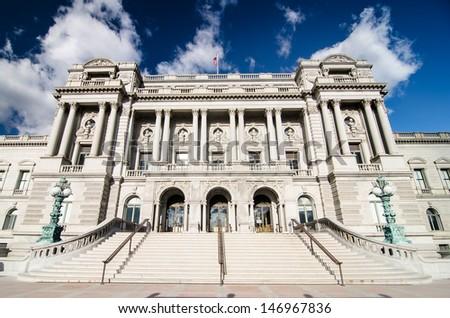 Library of Congress, Washington DC - United States - stock photo