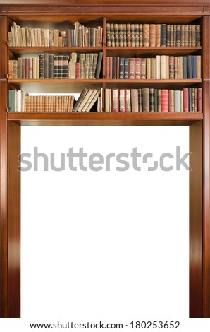 Library passage isolated on white background - stock photo