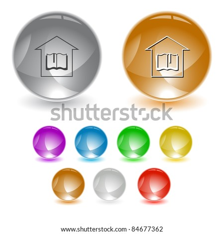 Library. Raster interface element. Vector version is in portfolio. - stock photo